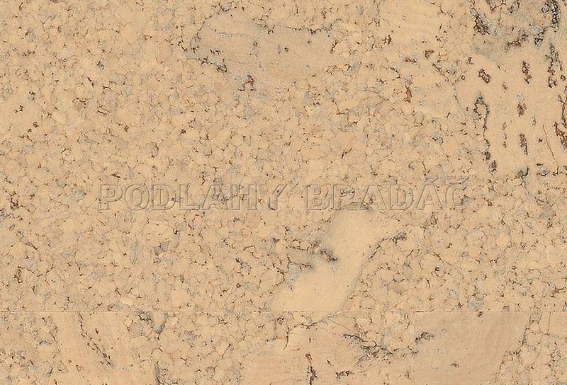 Korková plovoucí podlaha Meister KC 400 S Hrubá struktura, krémová 6806