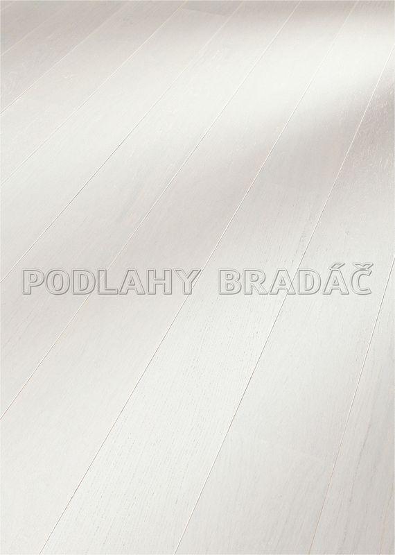 Dřevěné plovoucí podlahy Meister PD 400 Cottage Dub harmonický bílý krycí 8081