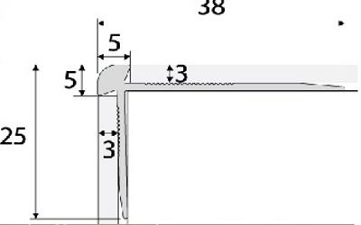 Schodový profil 3mm AC28