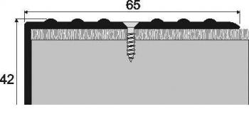 Schodová hrana A 32 v eloxu (šrubovací) 2,7m