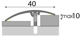 Univerzální Přechodová lišta A 64 v eloxu 2,7m