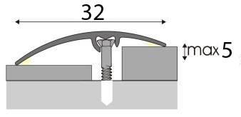 Univerzální Přechodová lišta A 66 v eloxu 2,7m