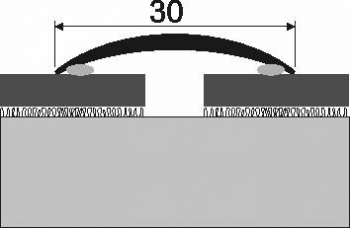 Přechodová lišta A 03 v eloxu (šroubovací) 0,93m