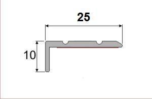 Schodová hrana A 31 v eloxu (samolepící) 1,2m
