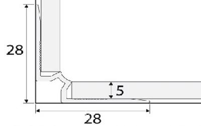 Schodový profil 5mm AC30