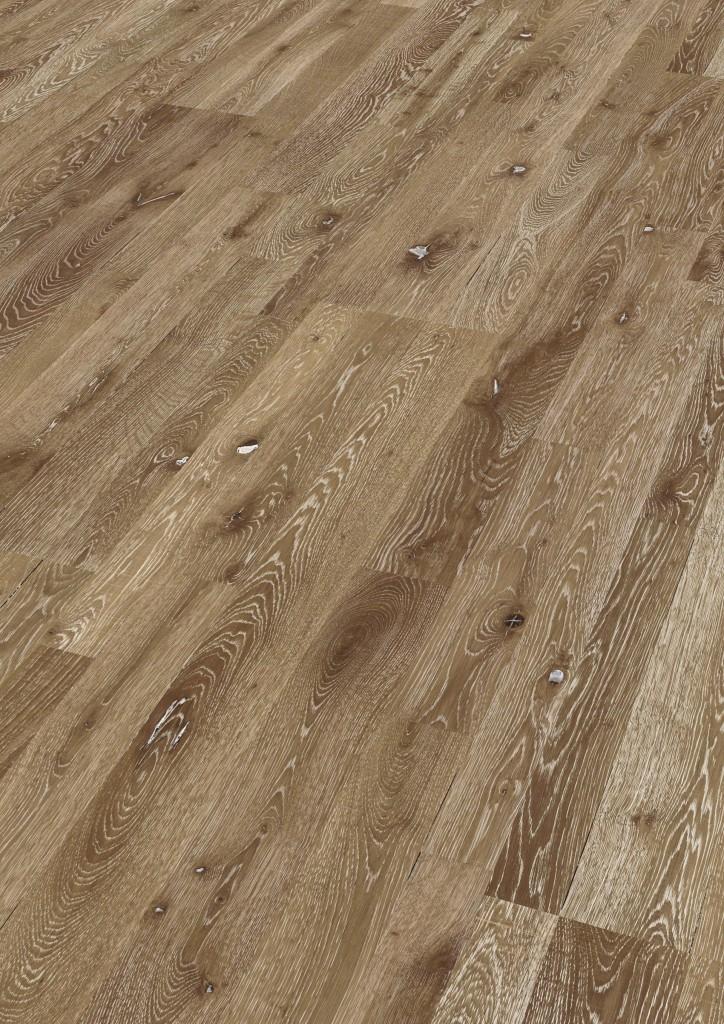 Dřevěné plovoucí podlahy Meister PC 400 Style Dub country hnědý vápněný 8587