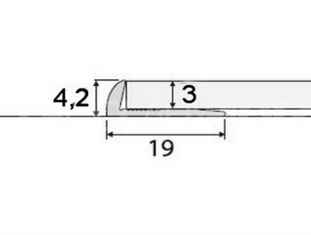 Ukončovací profil AC09 v eloxu (šrubovací) 2,7m
