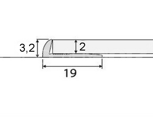 Ukončovací profil AC08 v eloxu (šrubovací) 2,7m