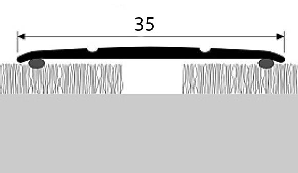 Přechodová lišta A 08 v imitaci dřeva (samolepící) 2,7m