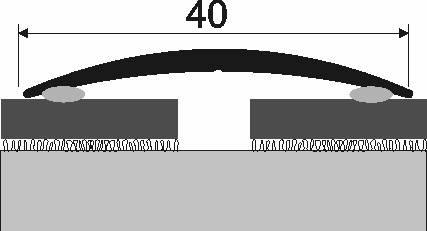 Přechodová lišta A 13 v eloxu (samolepící) 2,7m