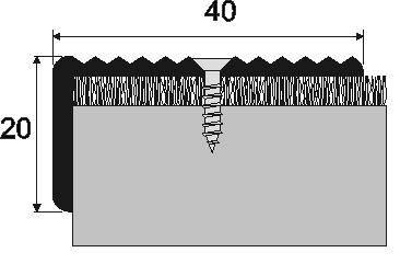 Schodová hrana A 33 v eloxu (šrubovací) 2,7m