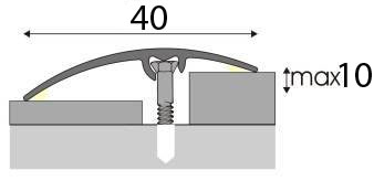 Univerzální Přechodová lišta A 64 v imitaci dřeva 2,7m