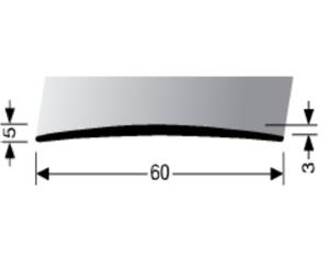 Přechodová lišta A 70 v eloxu (šrubovací) 1m