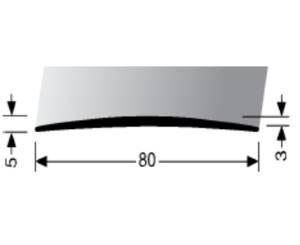 Přechodová lišta A 71 v eloxu (šrubovací) 1m