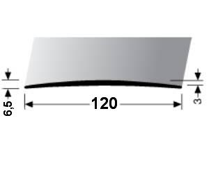 Přechodová lišta A 73 v eloxu 120 mm (samolepící) 2m