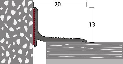 Soklový profil 20 x 13mm (samolepící) 2,5m